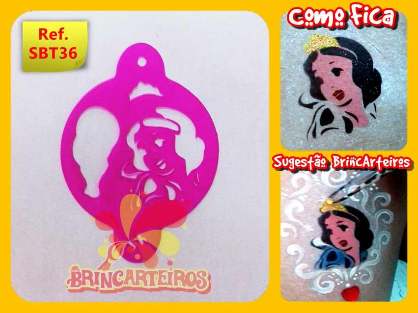 Stencil Princesa Branca De Neve Brincarteiros